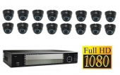 Set FullHD: Recorder + 16x FullHD IP Camera