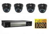 Set FullHD: Recorder + 4x FullHD IP Camera