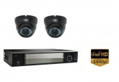 Set 2K: Recorder + 2x 2K IP Camera