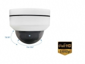 Dome IP camera 2K 4MP H.265 Bestuurbaar, 4x zoom
