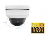 Dome IP camera 1080P FullHD H.265 Bestuurbaar, 4x zoom