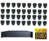 36 kanaals set FullHD incl. 36x FullHD IP camera 8000GB